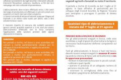 INCENDI BOSCHIVI. NORME DI PREVENZIONE DEL TERRITORIO TOSCANO PER ABBRUCIAMENTI E ACCENSIONE FUOCHI