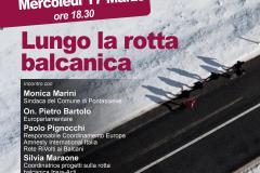 Lungo la rotta Balcanica. Mercoledì 17 marzo alle 18.30, incontro con Pietro Bartolo