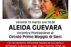 Pontassieve, 15 marzo 2019. Aleida Guevara al Circolo Primo Maggio di Sieci