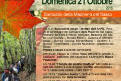Festa d'autunno.  Giornata di chiusura della stagione escursionistica. Domenica 21 ottobre 2018. Pontassieve, Santuario della Madonna delle Grazie