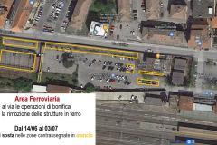 14/06/2021 Pontassieve, Area ferroviaria. Al via le operazioni di bonifica con la rimozione delle strutture in ferro