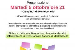 Presentazione dei lavori del lavori per la realizzazione del nuovo collettore fognario. Montebonello, Pontassieve, martedì 5 ottobre 2021