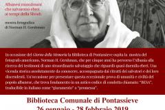 BESA, un codice d'onore. 26 gennaio - 28 febbraio 2019 presso la Biblioteca comunale di Pontassieve