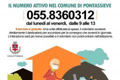 Pontassieve, 20 novembre 2020. Spesa a domicilio per anziani e persone fragili. Attivato il numero 055/8360312