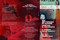 XIV Settimana contro il razzismo. Pontassieve, 19-24 marzo 2018