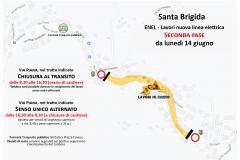 Lavori ENEL Santa Brigida - 2° fase