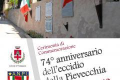 Cerimonia di commemorazione 74° anniversario dell'eccidio della Pievecchia. Pontassieve, 8 giugno 2018