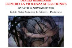 Giornata Internazionale contro la violenza sulle donne. Pontassieve, 24 novembre 2018