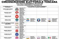 CAMERA - COLLEGIO PLURINOMINALE Toscana 03   COLLEGIO UNINOMINALE Toscana 03