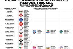 SENATO - COLLEGIO PLURINOMINALE Toscana 01   COLLEGIO UNINOMINALE Toscana 02