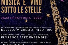 Musica e vino sotto le stelle. Jazz in fattoria 2020