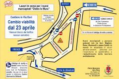 Viabilità temporanea Via Gori, Pontassieve