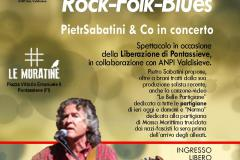 Rock-Folk-Blues con Pietro Sabatini & Co in concerto. 20/09/2018 Le Muratine, Pontassieve