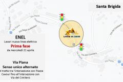 """Realizzazione nuova linea elettrica """"Progetto e-grid"""" nel centro abitato della frazione di Santa Brigida. Via Piana, variazioni temporanee alla circolazione stradale da mercoledì 21 aprile 2021"""