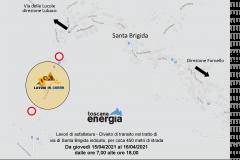 Lavori di asfaltatura - Divieto di transito in via di Santa Brigida. Da giovedì 15 a venerdì 16 aprile 2021 in orario 7-18