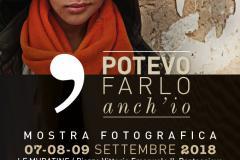 Potevo farlo anch'io, MOstra fotografica. Pontassieve, Le Muratine 7-8-9 settembre 2018