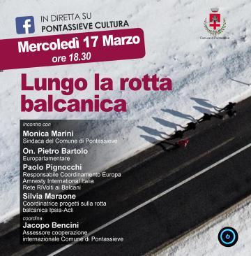 """Lungo la rotta Balcanica"""": mercoledì 17 marzo alle 18.30, incontro con Pietro Bartolo"""