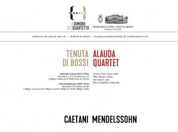 Pontassieve. Concerto Alauda Quartet e wine tasting 18 luglio 2017