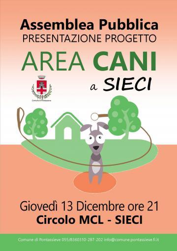 Pontassieve, presentazione del Progetto per l'area cani a Sieci. 13/12/2018