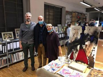 Arte: grande successo a Firenze per il vernissage degli artisti pontassievesi Benedetta Piazzai e Matteo Bartolozzi. Flora et Labora