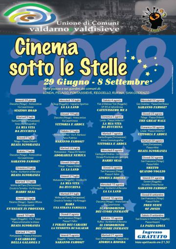 Pontassieve. Cinema Sotto le stelle. Ogni martedì, dal 3 luglio al 28 agosto 2018