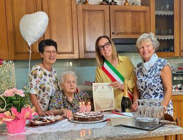 100 candeline per Bruna Ceccarelli. 13 settembre 2021