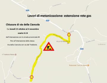 Metanizzazione: estensione della rete gas a Lubaco