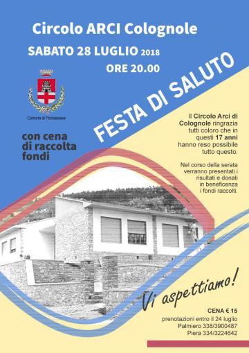 Pontassieve, 28/07/2018 FESTA DI SALUTO AL CIRCOLO ARCI DI COLOGNOLE