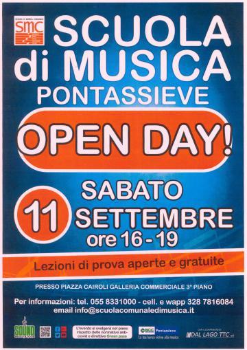 Locandina Open day scuola di musica comunale