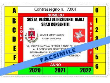 Rilascio permessi sosta residenti anno 2021