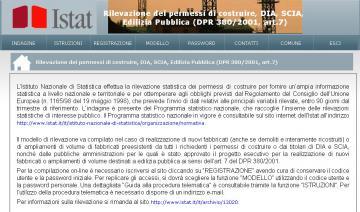 Rilevazione Istat on-line per permessi di costruire e SCIA