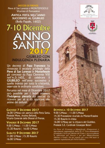 Pontassieve. L'Anno Santo a Montefiesolee apertura della Porta Santa