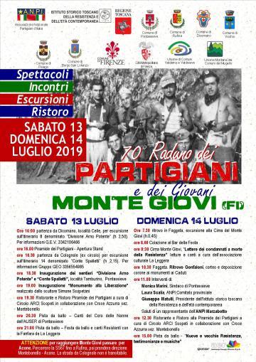 LXX  Raduno dei Partigiani e dei Giovani a Monte Giovi. 13-14 luglio 2019