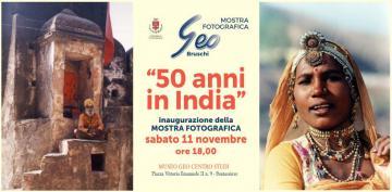50 anni in India. Mostra fotografica di Geo Bruschi 2017