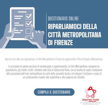 Un questionario online per i cittadini della Città metropolitana di Firenze