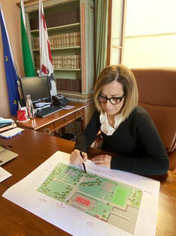 Monica Marini, Sindaca di Pontassieve. Si inizia con il parco E.Curiel: via ai lavori a inizio aprile 2021