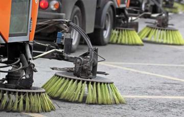 Sospensione spazzamento meccanizzato strade