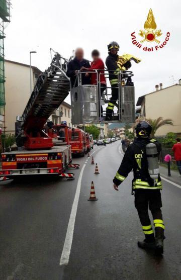 Incendio palazzina alle Sieci. 16 maggio 2018