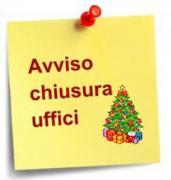 Uffici comunali: variazioni aperture durante le festività natalizie