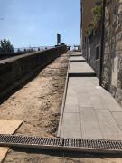 Ottobre 2018. Pista ciclabile dal Centro storico al Parco Fluviale. I lavori si spostano lungo viale Diaz