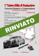 RINVIATO Trofeo Città di Pontassieve