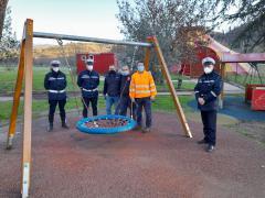 """Rubano uno dei giochi per i bambini nel parco comunale delle """"Montagnole"""", individuati e rintracciati dalla Polizia Municipale"""