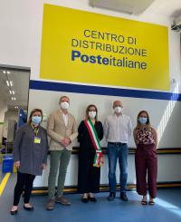 Poste italiane: presentato il nuovo centro di distribuzione postale di Pontassieve. 11/06/2021
