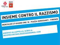 Insieme contro il razzismo. Firenze, mercoledì 27 giugno 2018