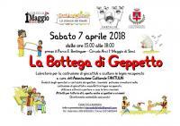 la bottega di Geppetto. Sabato 7 aprile al Circolo Arci I Maggio di Sieci