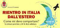 locandina rientri in italia dall'estero covid 19