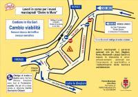 """Lavori a Pontassieve """"Dietro le mura"""". Dall'8 giugno 2018 cambia la viabilità con il ritorno a senso unico, senza blocchi né semafori, in Via Luigi Gori"""