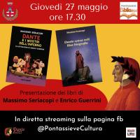 Giovedì 27 maggio alle 17.30 Dante senza veli e Dante e i mostri dell'inferno scritti da Massimo Seriacopi con illustrazioni di Enrico Guerrini.