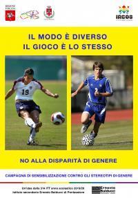 """Manifesto realizzato dagli studenti della classe III A dell'istituto superiore Balducci di Pontassieve (a.s. 2019/2020) per dire """"no"""" agli stereotipi di genere"""