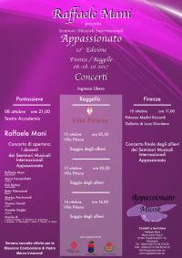 Concerto di apertura dei Seminari Musicali internazionali Appassionato. 8 ottobre 2017